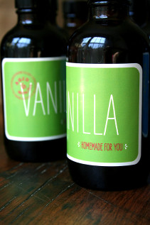 Homemade Vanilla Extract, Moo Labels