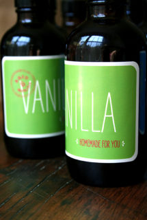 Homemade Vanilla Extract, Moo Labels