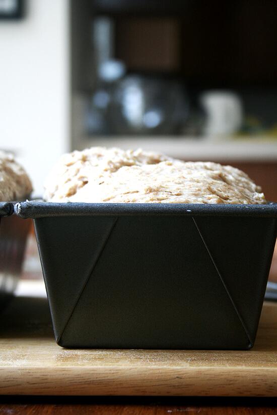 loaf, rising