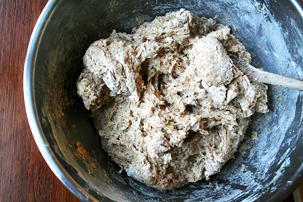 mixed dough