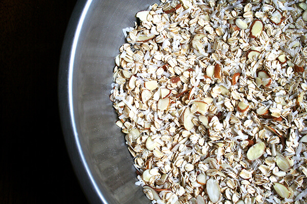 oats, coconut and almonds