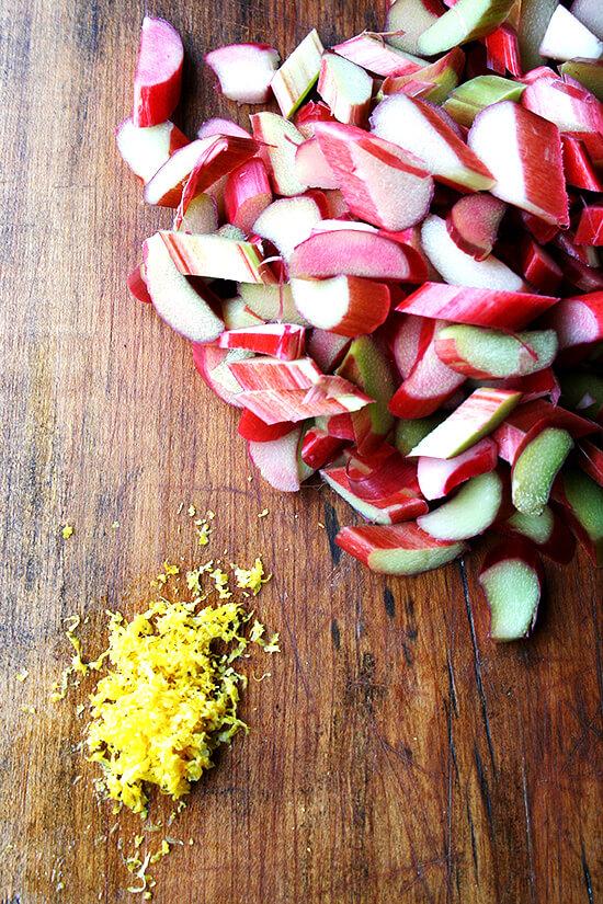 rhubarb & lemon