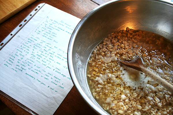 soaking oats, brown sugar & butter