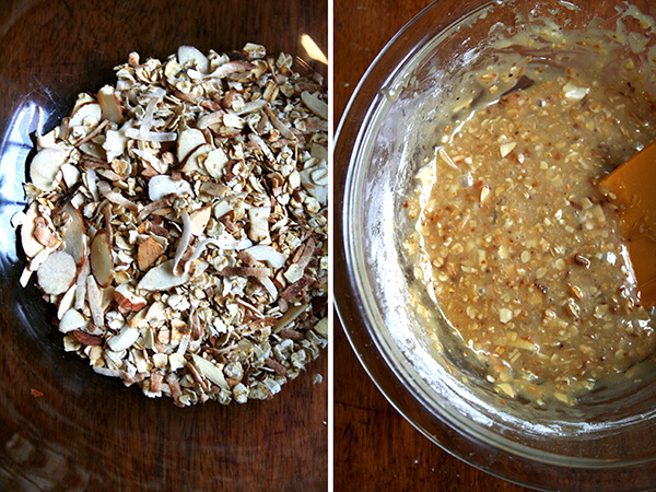 granola cup cookie batter