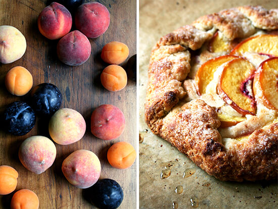 stone fruit; peach galette