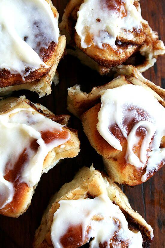 Molly Wizenberg cinnamon rolls with cream cheese icing