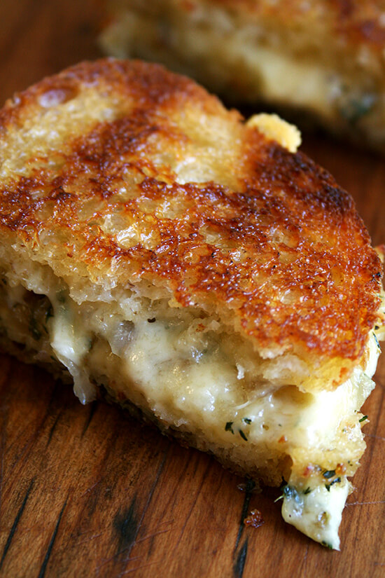 grilled cheese with comte, thyme & shallots
