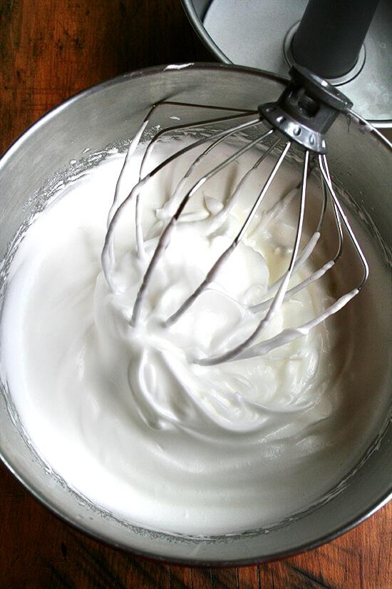 egg whites, beaten