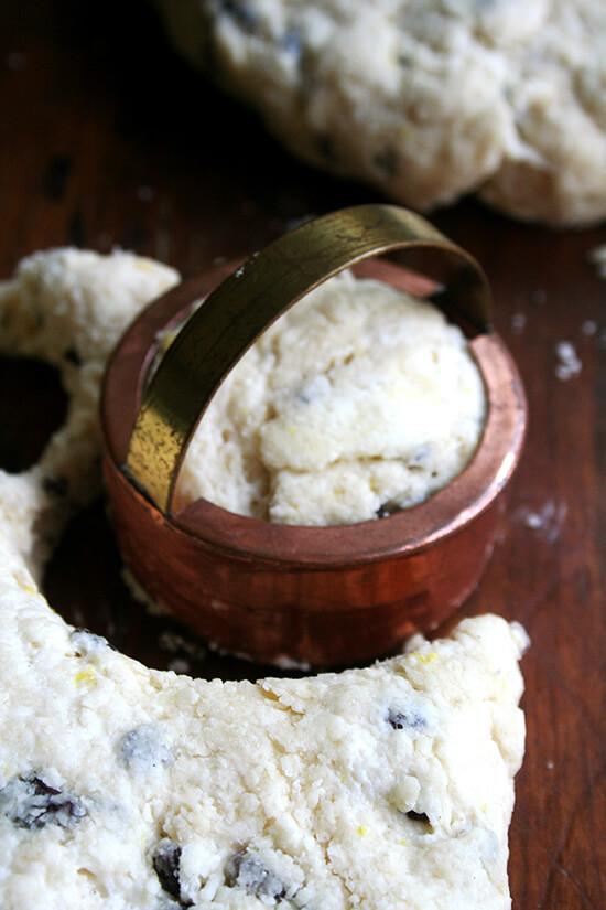 cutting the scones