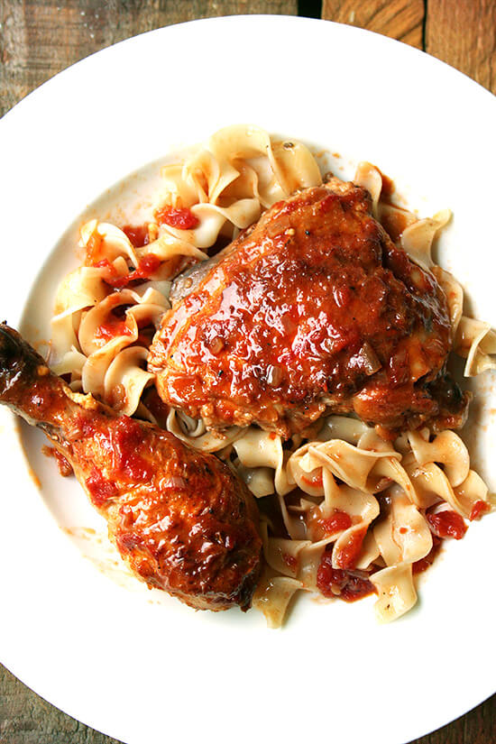 braised chicken with sherry vinegar