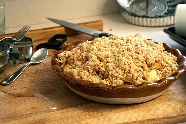 Darcy's apple crumble — so delicious!