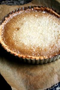 maple cream tart, just baked