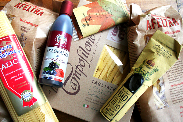 goods, including Afeltra pasta, from Po Valley Foods