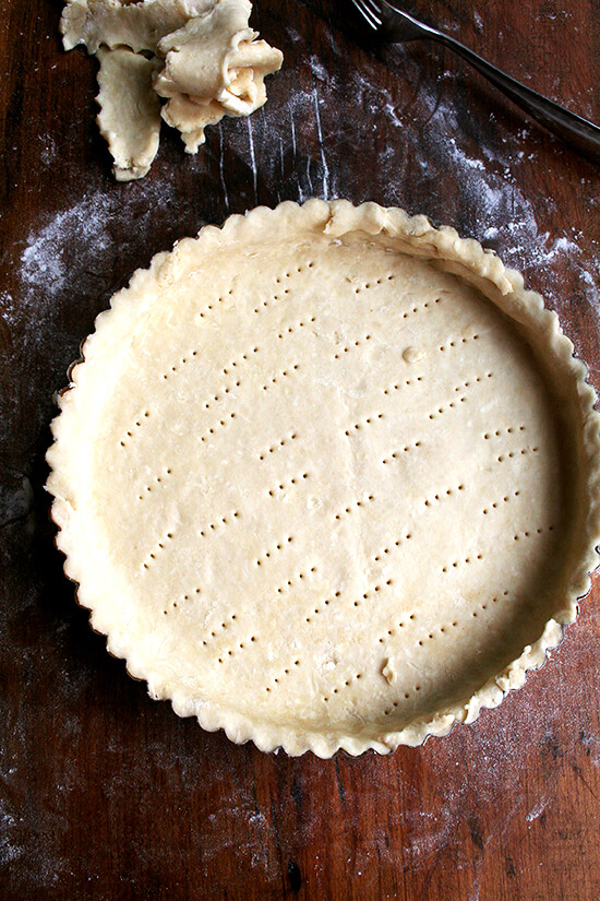 tart, ready to be blind baked