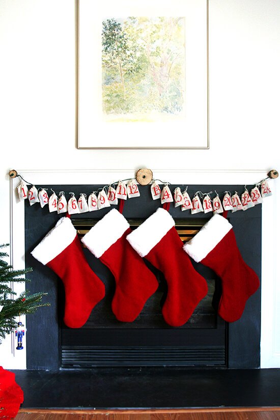 advent calendar & stockings