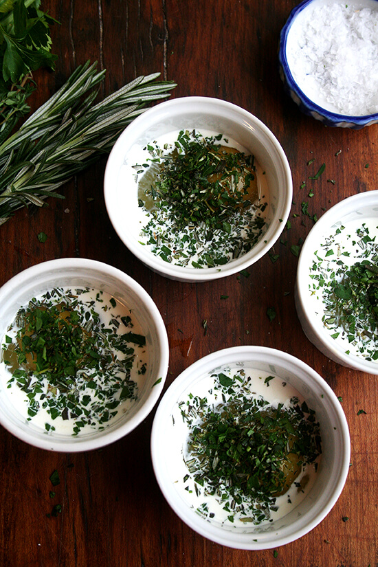eggs with herbs
