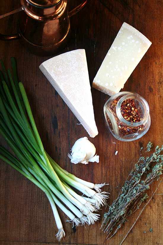 ingredients for salsa di Parmigiano