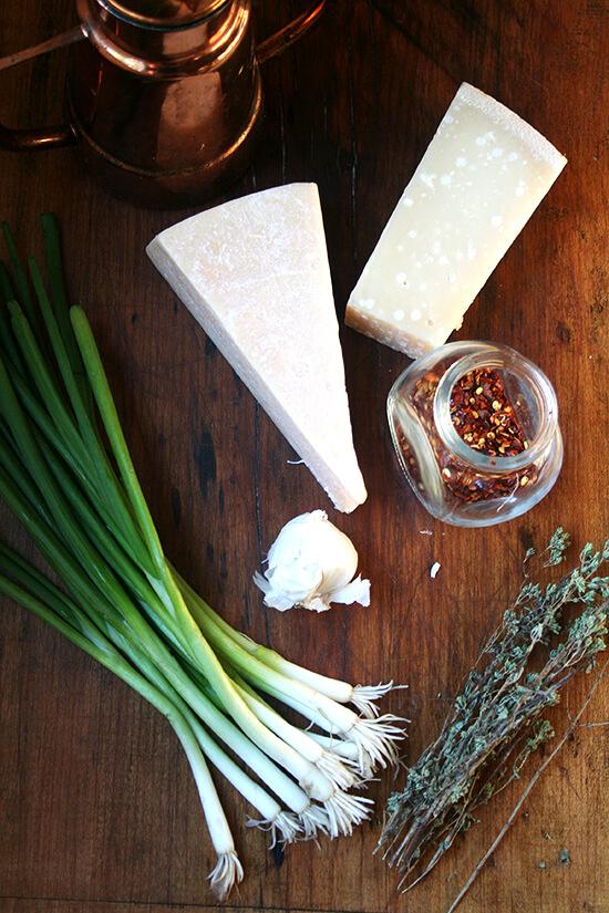 ingredients for salsa di Parmigiano