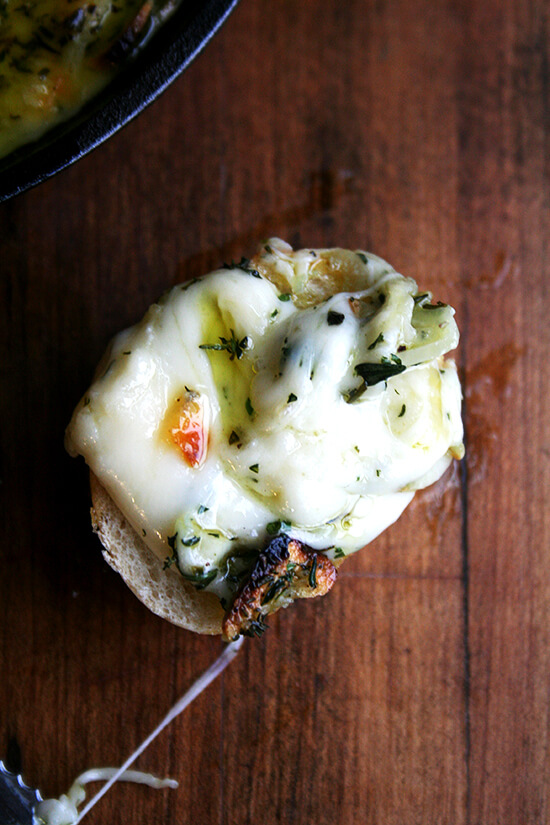 baked fontina on cheese