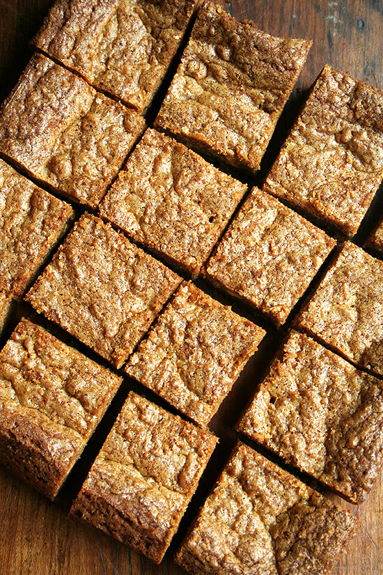 cut blondies