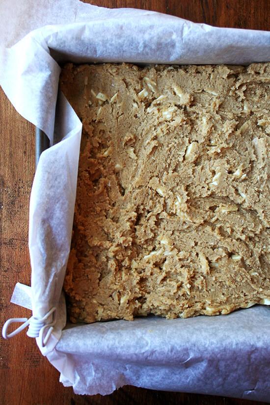 unbaked blondies