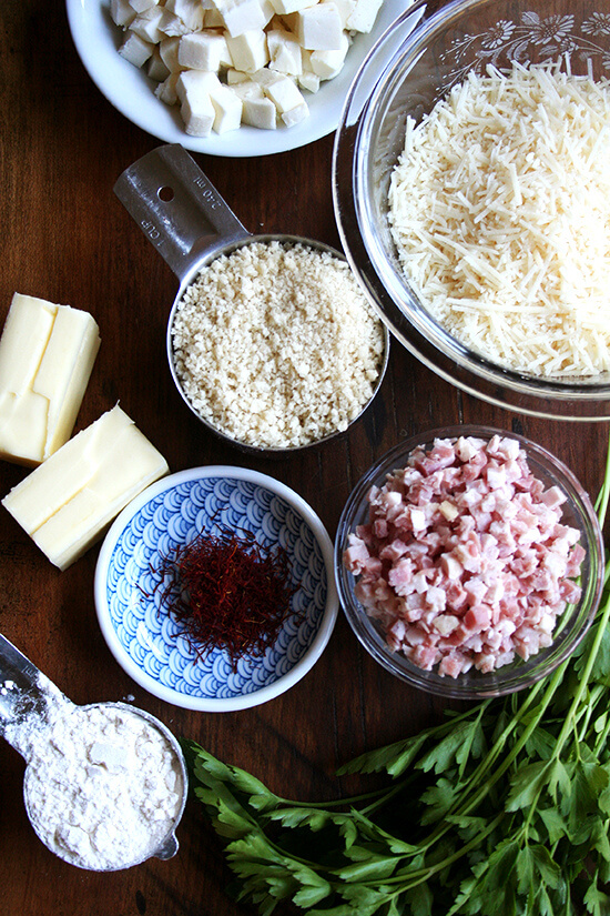 ingredients for arancini macaroni & cheese