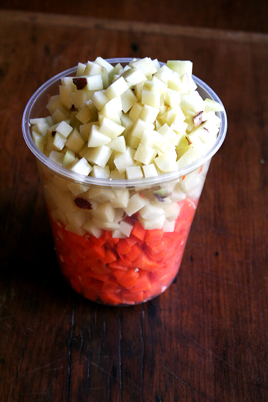 diced carrots & potatoes