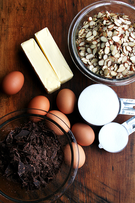 chocolate almond torte ingredients