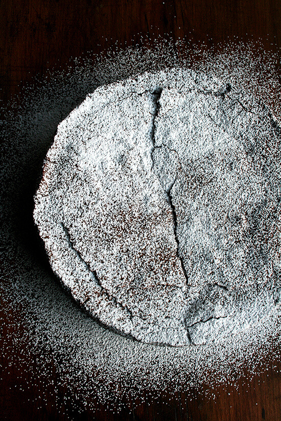sugar-dusted torte