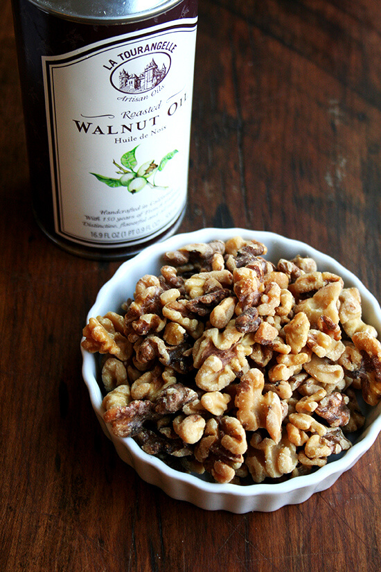 toasted walnuts and walnut oil