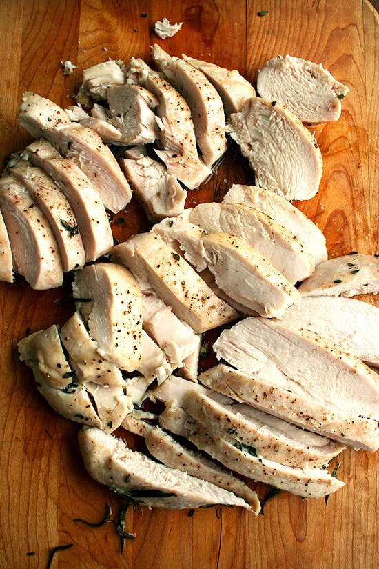 just-baked chicken breasts