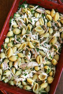 Pasta with Chicken, Lemon & White Wine — A Meal to Take to a Friend // Also, Spatchcock Chicken