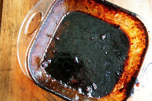 soiled pan