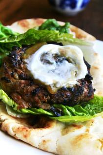 Curried Lamb Burgers with Chutney Mustard & Greek Yogurt