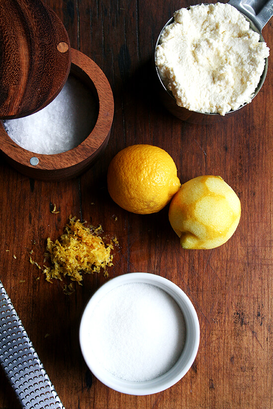 lemon-ricotta filling ingredients