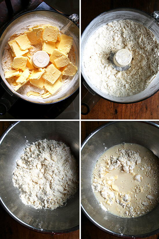 making the processor pastry