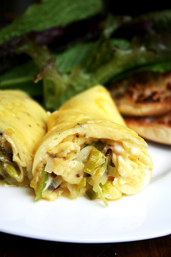Guest Post on A Cup of Jo: Leek & Goat Cheese Omelet