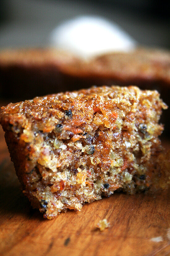 halved quinoa and carrot muffin