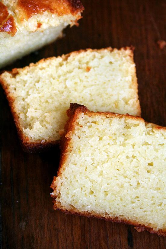 slices of lemon-ricotta pound cake