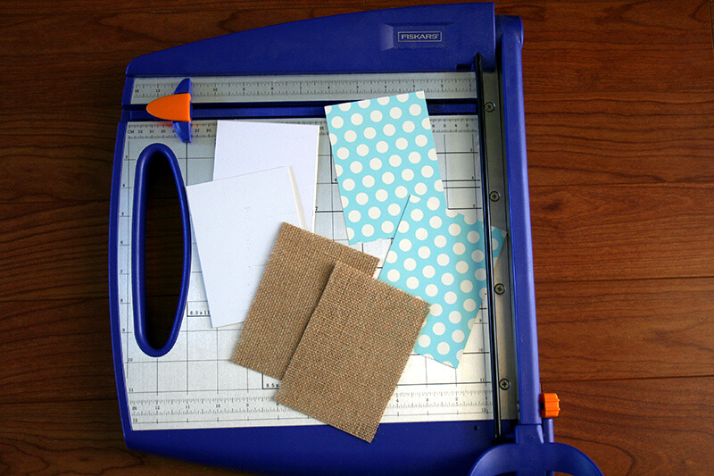 materials on paper cutter