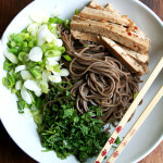 Soba Salad with Marinated Tofu, Mint & Scallions