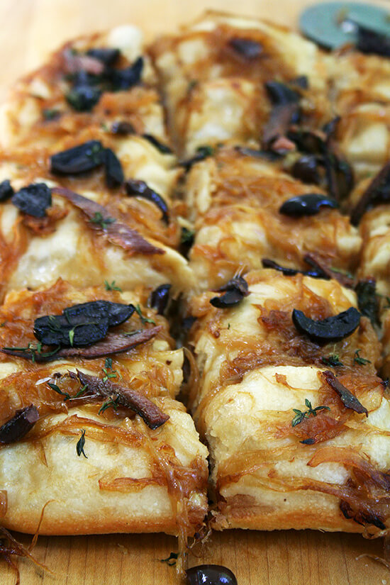 Pissaladière/Focaccia: What to Do With Past-Prime Lahey Pizza Dough