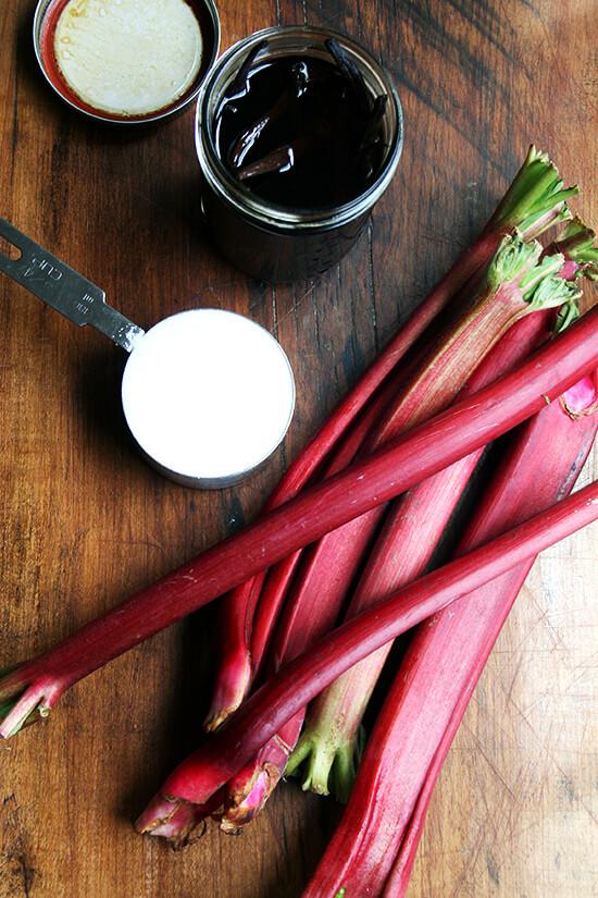 rhubarbjamingredients