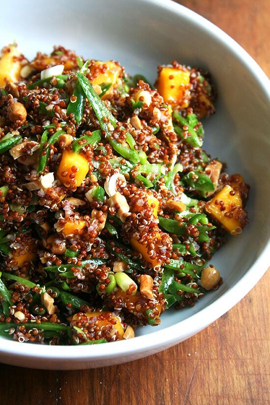 tossed quinoa