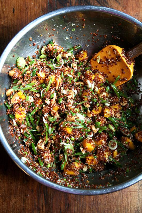 quinoa salad, mixed