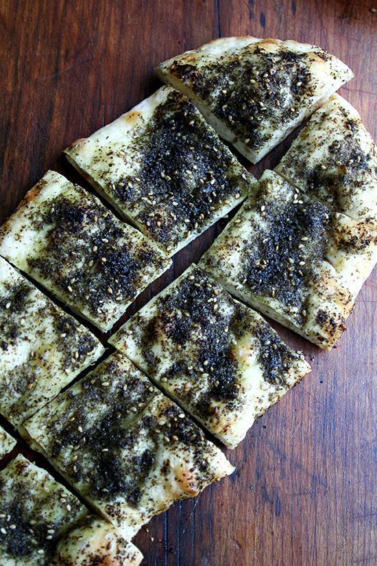 Burnt Eggplant with Za'atar Flatbread