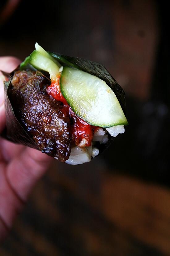 Bulgogi with Cucumber-Apple Pickle