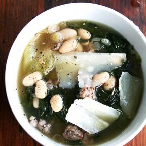 White Bean, Escarole & Sausage Soup