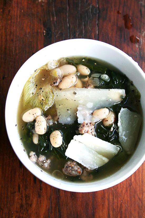 white bean, escarole and sausage soup