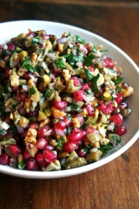 Green Olive, Pomegranate & Walnut Salad